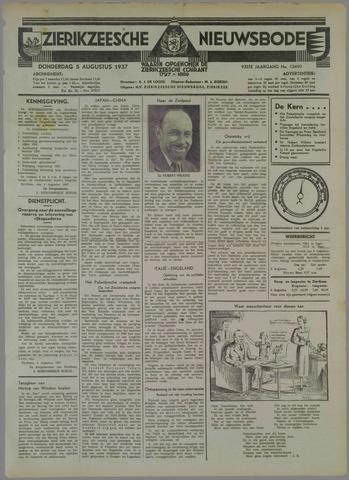Zierikzeesche Nieuwsbode 1937-08-05