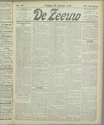 De Zeeuw. Christelijk-historisch nieuwsblad voor Zeeland 1919-01-10