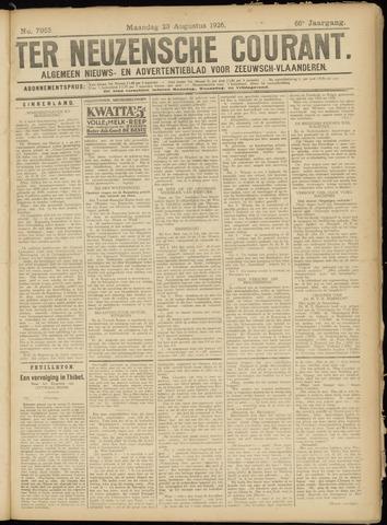 Ter Neuzensche Courant. Algemeen Nieuws- en Advertentieblad voor Zeeuwsch-Vlaanderen / Neuzensche Courant ... (idem) / (Algemeen) nieuws en advertentieblad voor Zeeuwsch-Vlaanderen 1926-08-23