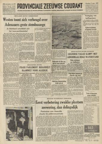 Provinciale Zeeuwse Courant 1957-09-17
