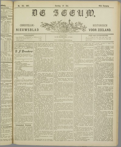 De Zeeuw. Christelijk-historisch nieuwsblad voor Zeeland 1897-07-24