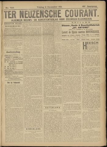 Ter Neuzensche Courant. Algemeen Nieuws- en Advertentieblad voor Zeeuwsch-Vlaanderen / Neuzensche Courant ... (idem) / (Algemeen) nieuws en advertentieblad voor Zeeuwsch-Vlaanderen 1921-12-02