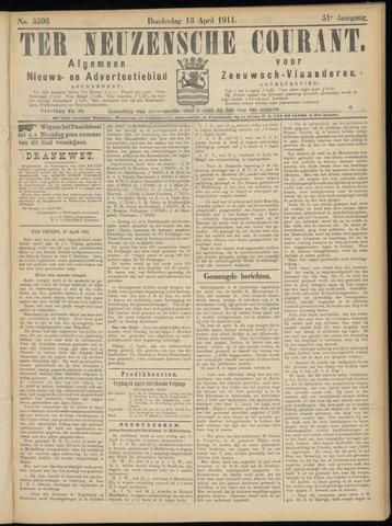 Ter Neuzensche Courant. Algemeen Nieuws- en Advertentieblad voor Zeeuwsch-Vlaanderen / Neuzensche Courant ... (idem) / (Algemeen) nieuws en advertentieblad voor Zeeuwsch-Vlaanderen 1911-04-13