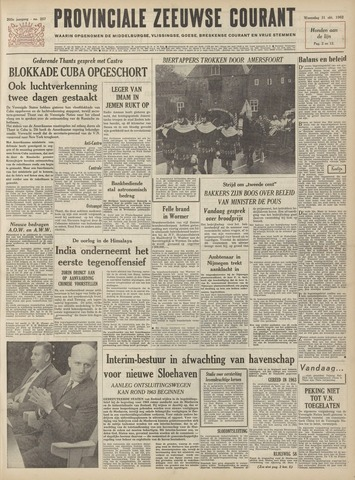 Provinciale Zeeuwse Courant 1962-10-31