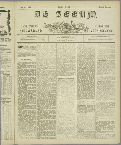 De Zeeuw. Christelijk-historisch nieuwsblad voor Zeeland 1895-07-01