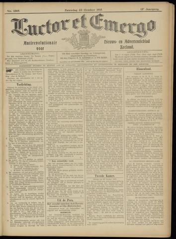 Luctor et Emergo. Antirevolutionair nieuws- en advertentieblad voor Zeeland / Zeeuwsch-Vlaanderen. Orgaan ter verspreiding van de christelijke beginselen in Zeeuwsch-Vlaanderen 1915-10-23
