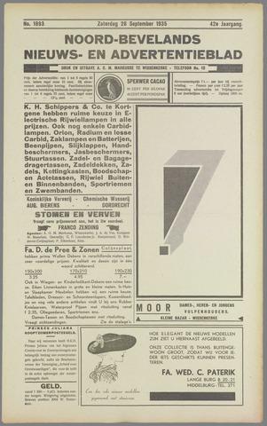 Noord-Bevelands Nieuws- en advertentieblad 1935-09-28