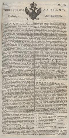 Middelburgsche Courant 1777-02-20