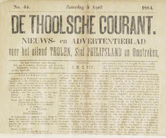 Ierseksche en Thoolsche Courant 1884-04-05