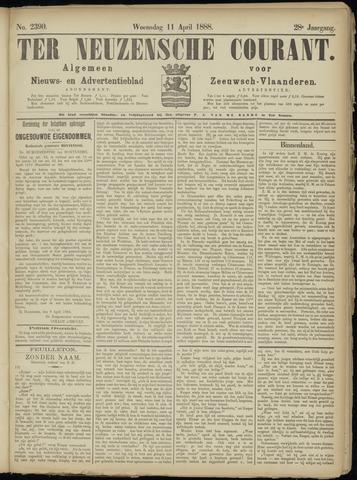Ter Neuzensche Courant. Algemeen Nieuws- en Advertentieblad voor Zeeuwsch-Vlaanderen / Neuzensche Courant ... (idem) / (Algemeen) nieuws en advertentieblad voor Zeeuwsch-Vlaanderen 1888-04-11