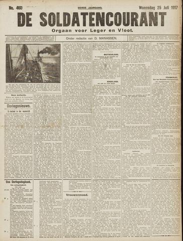 De Soldatencourant. Orgaan voor Leger en Vloot 1917-07-25