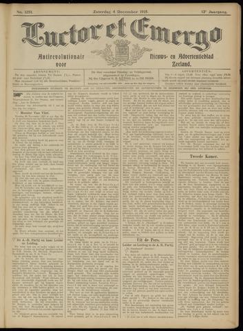 Luctor et Emergo. Antirevolutionair nieuws- en advertentieblad voor Zeeland / Zeeuwsch-Vlaanderen. Orgaan ter verspreiding van de christelijke beginselen in Zeeuwsch-Vlaanderen 1915-12-04