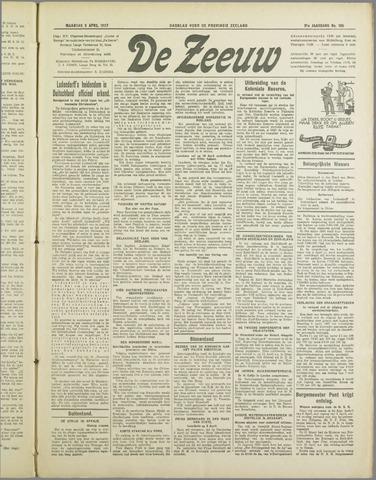De Zeeuw. Christelijk-historisch nieuwsblad voor Zeeland 1937-04-05
