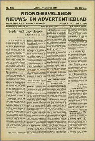 Noord-Bevelands Nieuws- en advertentieblad 1947-08-09