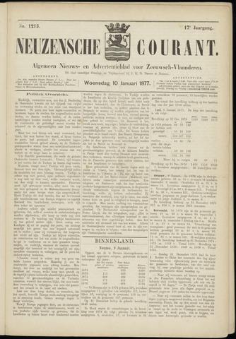 Ter Neuzensche Courant. Algemeen Nieuws- en Advertentieblad voor Zeeuwsch-Vlaanderen / Neuzensche Courant ... (idem) / (Algemeen) nieuws en advertentieblad voor Zeeuwsch-Vlaanderen 1877-01-10