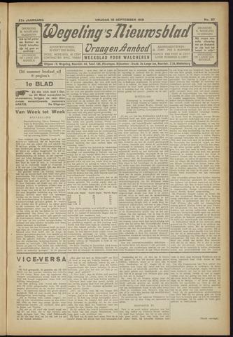 Zeeuwsch Nieuwsblad/Wegeling's Nieuwsblad 1931-09-18