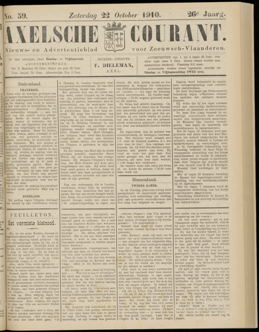 Axelsche Courant 1910-10-22
