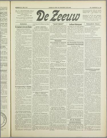 De Zeeuw. Christelijk-historisch nieuwsblad voor Zeeland 1937-07-21