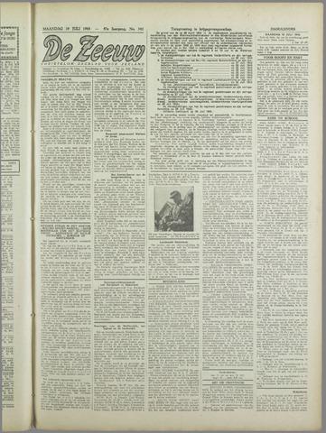 De Zeeuw. Christelijk-historisch nieuwsblad voor Zeeland 1943-07-19