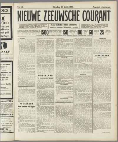 Nieuwe Zeeuwsche Courant 1913-07-15