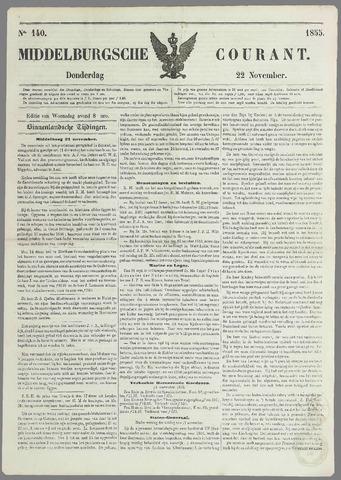 Middelburgsche Courant 1855-11-22