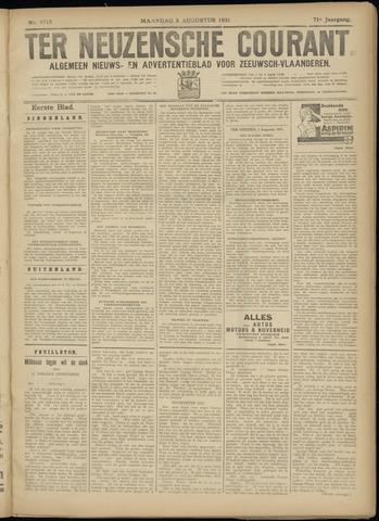 Ter Neuzensche Courant. Algemeen Nieuws- en Advertentieblad voor Zeeuwsch-Vlaanderen / Neuzensche Courant ... (idem) / (Algemeen) nieuws en advertentieblad voor Zeeuwsch-Vlaanderen 1931-08-03