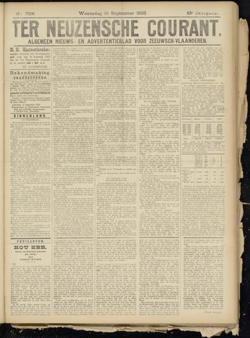 Ter Neuzensche Courant. Algemeen Nieuws- en Advertentieblad voor Zeeuwsch-Vlaanderen / Neuzensche Courant ... (idem) / (Algemeen) nieuws en advertentieblad voor Zeeuwsch-Vlaanderen 1923-09-19