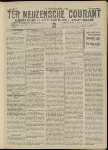 Ter Neuzensche Courant. Algemeen Nieuws- en Advertentieblad voor Zeeuwsch-Vlaanderen / Neuzensche Courant ... (idem) / (Algemeen) nieuws en advertentieblad voor Zeeuwsch-Vlaanderen 1942-04-27