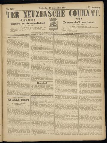 Ter Neuzensche Courant. Algemeen Nieuws- en Advertentieblad voor Zeeuwsch-Vlaanderen / Neuzensche Courant ... (idem) / (Algemeen) nieuws en advertentieblad voor Zeeuwsch-Vlaanderen 1897-11-18