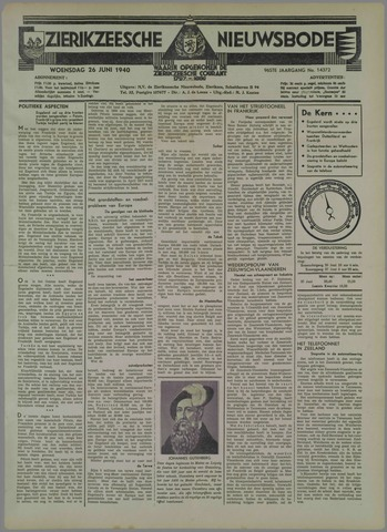 Zierikzeesche Nieuwsbode 1940-06-26