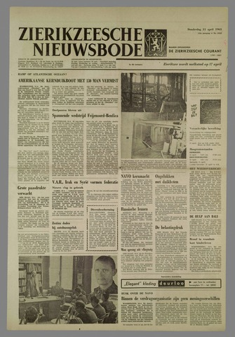 Zierikzeesche Nieuwsbode 1963-04-11
