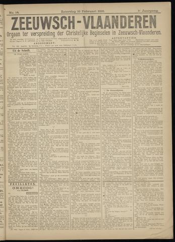 Luctor et Emergo. Antirevolutionair nieuws- en advertentieblad voor Zeeland / Zeeuwsch-Vlaanderen. Orgaan ter verspreiding van de christelijke beginselen in Zeeuwsch-Vlaanderen 1918-02-16