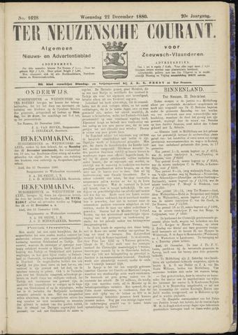 Ter Neuzensche Courant. Algemeen Nieuws- en Advertentieblad voor Zeeuwsch-Vlaanderen / Neuzensche Courant ... (idem) / (Algemeen) nieuws en advertentieblad voor Zeeuwsch-Vlaanderen 1880-12-22