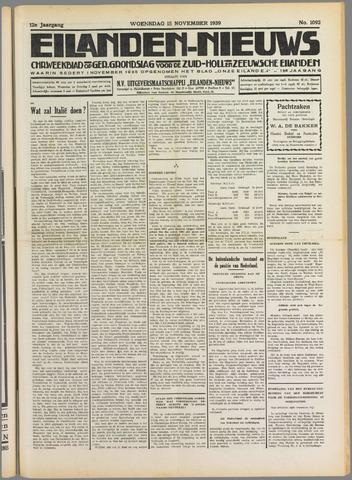 Eilanden-nieuws. Christelijk streekblad op gereformeerde grondslag 1939-11-15