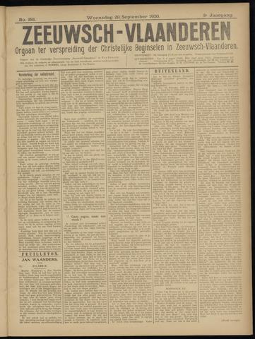 Luctor et Emergo. Antirevolutionair nieuws- en advertentieblad voor Zeeland / Zeeuwsch-Vlaanderen. Orgaan ter verspreiding van de christelijke beginselen in Zeeuwsch-Vlaanderen 1920-09-29