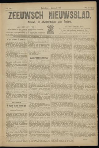 Ter Neuzensch Volksblad. Vrijzinnig nieuws- en advertentieblad voor Zeeuwsch- Vlaanderen / Zeeuwsch Nieuwsblad. Nieuws- en advertentieblad voor Zeeland 1919-01-11