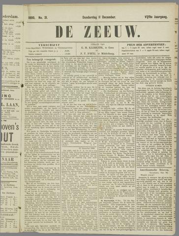 De Zeeuw. Christelijk-historisch nieuwsblad voor Zeeland 1890-12-11