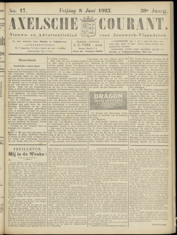 Axelsche Courant 1923-06-08