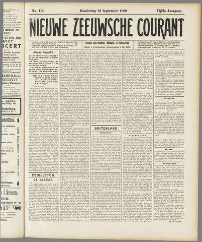 Nieuwe Zeeuwsche Courant 1909-09-23
