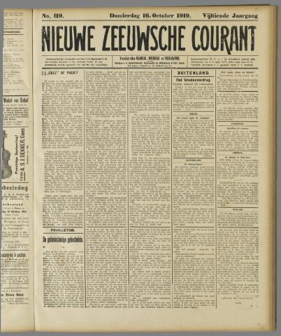 Nieuwe Zeeuwsche Courant 1919-10-16