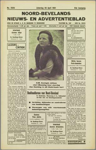 Noord-Bevelands Nieuws- en advertentieblad 1951-04-28
