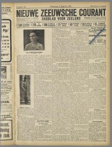 Nieuwe Zeeuwsche Courant 1921-08-31