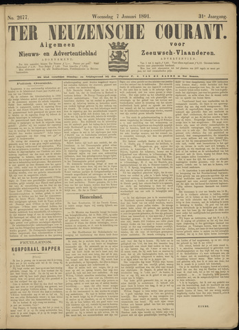 Ter Neuzensche Courant. Algemeen Nieuws- en Advertentieblad voor Zeeuwsch-Vlaanderen / Neuzensche Courant ... (idem) / (Algemeen) nieuws en advertentieblad voor Zeeuwsch-Vlaanderen 1891-01-07