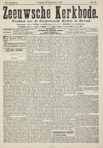 Zeeuwsche kerkbode, weekblad gewijd aan de belangen der gereformeerde kerken/ Zeeuwsch kerkblad 1920-12-24