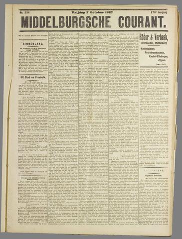 Middelburgsche Courant 1927-10-07
