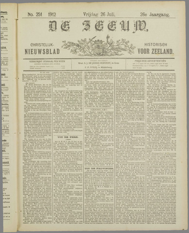 De Zeeuw. Christelijk-historisch nieuwsblad voor Zeeland 1912-07-26