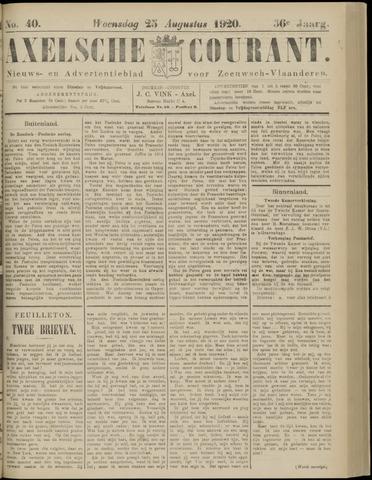 Axelsche Courant 1920-08-25