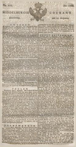 Middelburgsche Courant 1768-08-25