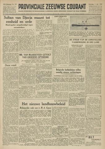 Provinciale Zeeuwse Courant 1949-07-02