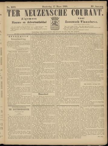Ter Neuzensche Courant. Algemeen Nieuws- en Advertentieblad voor Zeeuwsch-Vlaanderen / Neuzensche Courant ... (idem) / (Algemeen) nieuws en advertentieblad voor Zeeuwsch-Vlaanderen 1898-03-17
